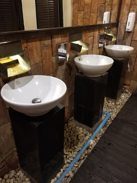 I normally don't take photos of bathrooms, but thought this Burger King restroom was amazing!