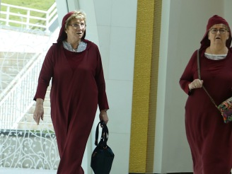 """The rental abayas reminded me of the """"Handmaid's Tale""""!"""
